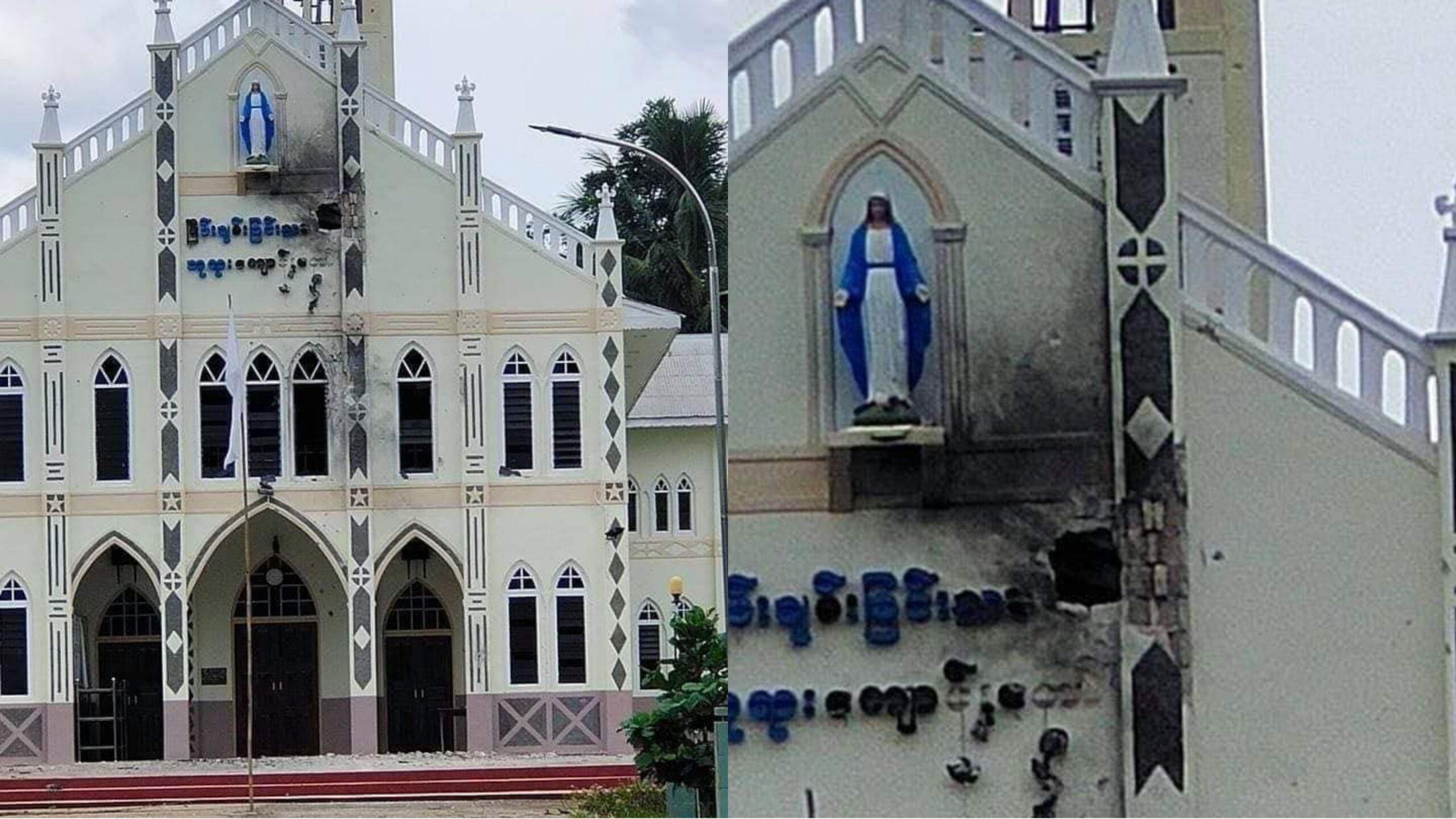 ဘာသာရေးအဆောက်အအုံတွေမချန် ဖျက်ဆီးတိုက်ခိုက်နေတဲ့ စစ်အုပ်စု